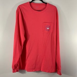 Southern Tide . One Pocket Long Sleeve Shirt . L